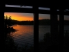 Picture window sunset