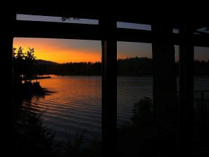 Picture-window-sunset